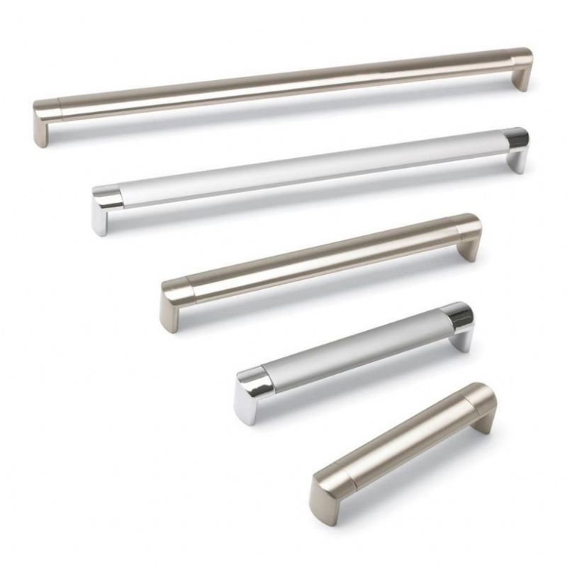 OVAL TUBE Aluminium 'D' Cupboard Handle - 8 sizes - 2 finishes (ECF FF617**)